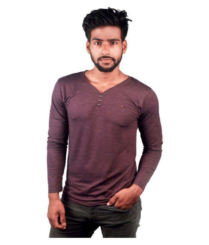 cluesteps Purple Henley T-Shirt