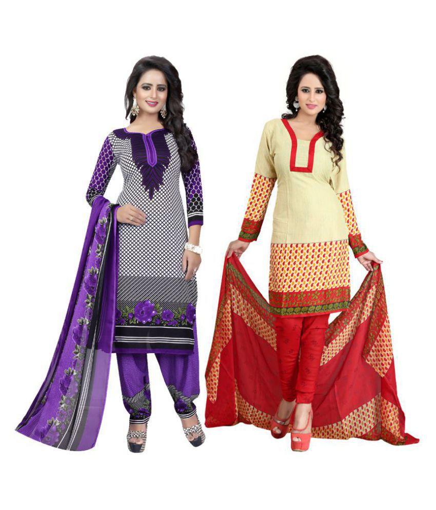 Kavya Fashion Multicoloured Cotton Dress Material