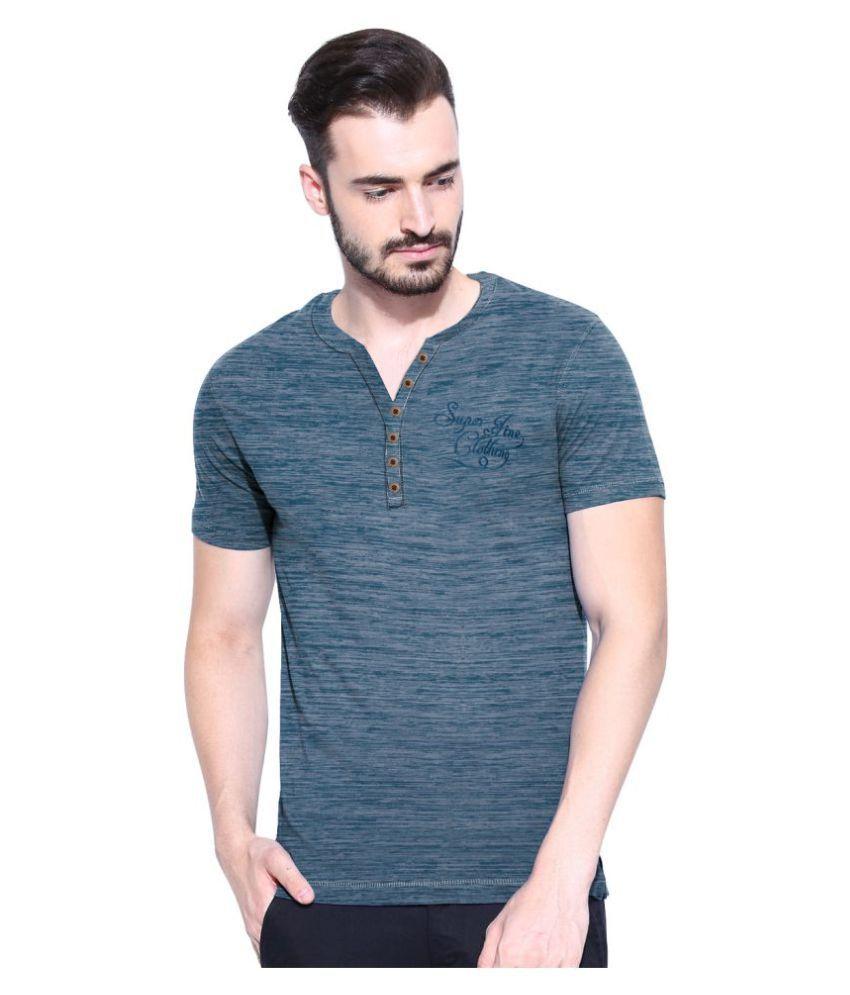MOONWALKER Blue Henley T-Shirt