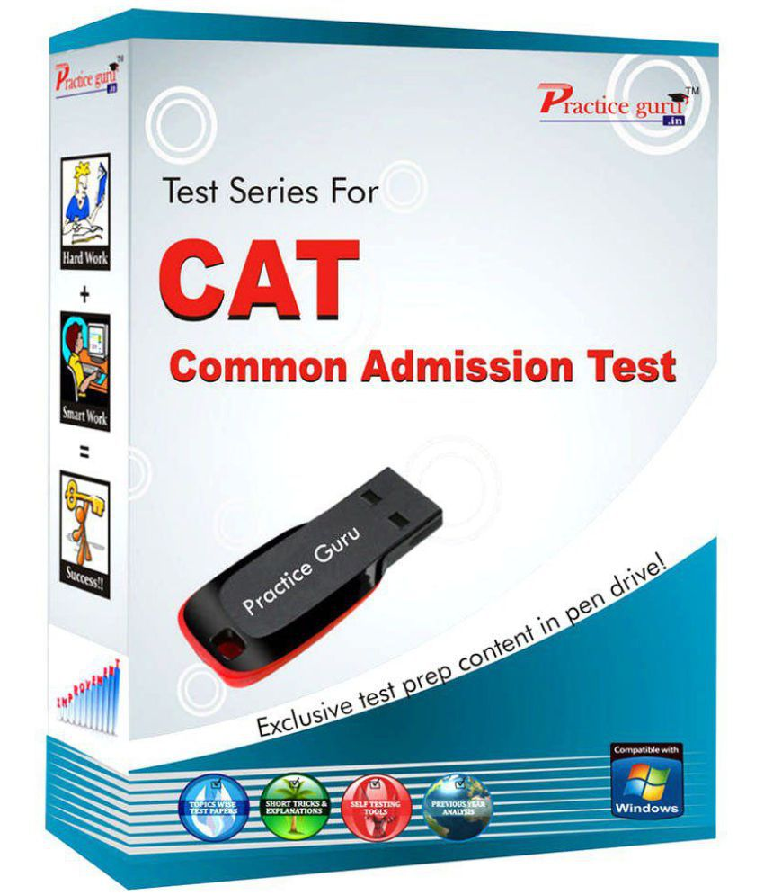 Printed study material + Sure shot Topic wise tests (In free pen drive) for  CAT Exam prep  Study Material Notes