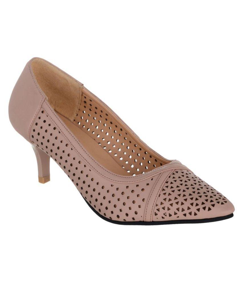 SHUZ TOUCH Pink Kitten Heels