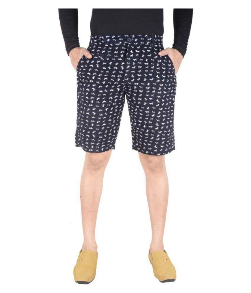 Night King Navy Shorts
