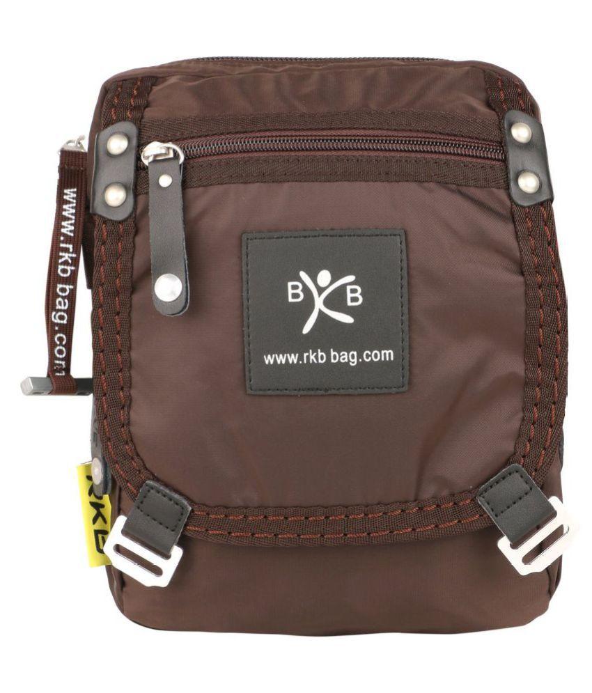 RKB Smart Stylish Brown Nylon Casual Messenger Bag