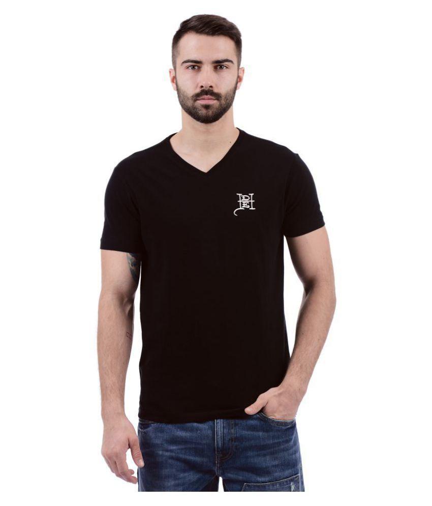 Ed Hardy Black V-Neck T-Shirt