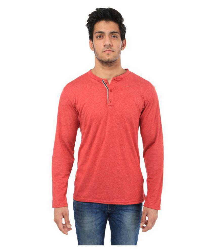 Five-Stones Red Henley T-Shirt
