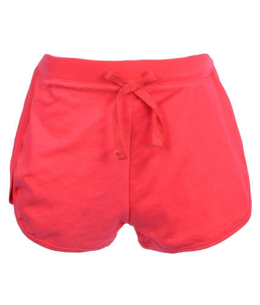 Gkidz Girls Solid Fushia Shorts with Bow