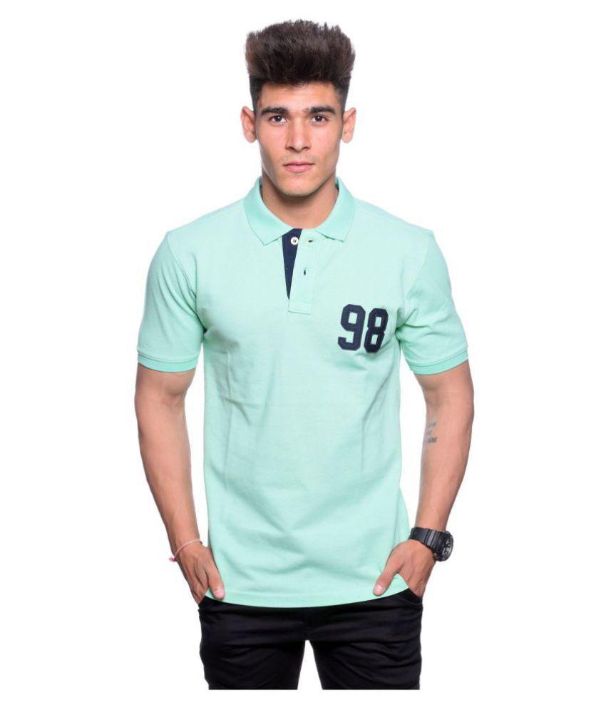 Hunkmart Green High Neck T-Shirt