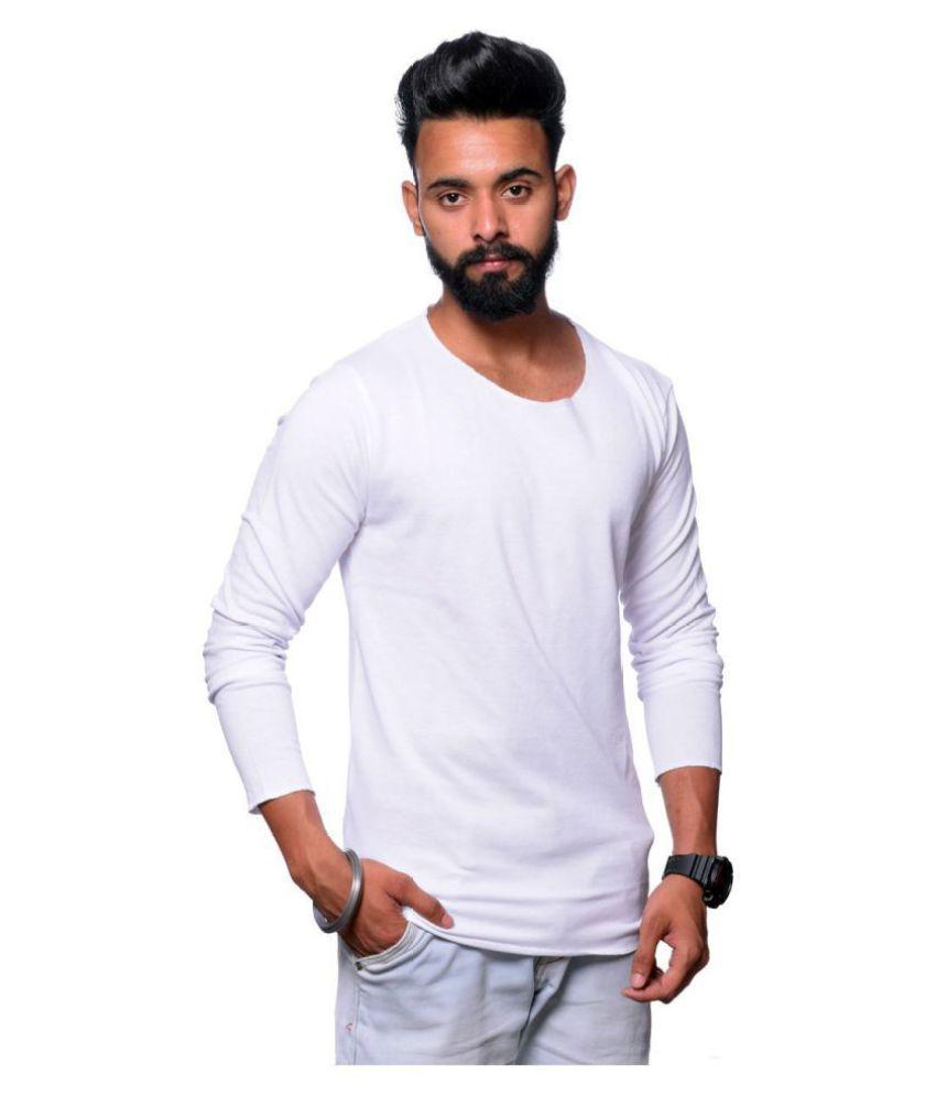 Hunkmart White Round T-Shirt
