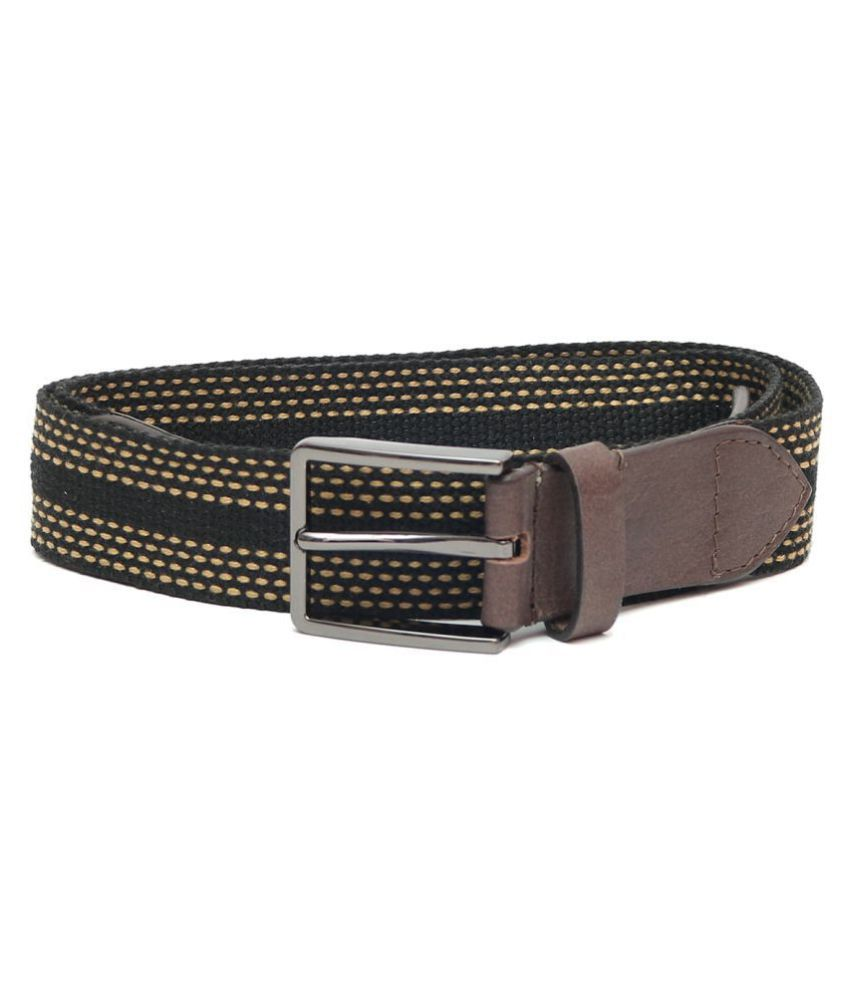 Laurent Benen Black Canvas Casual Belts