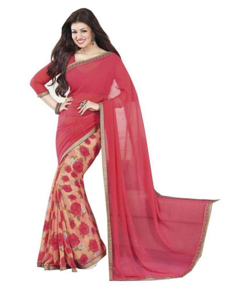 Pramukh Saris Pink Dupion Silk Saree