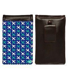 Nutcase Travel Pouch for men Leather Multi Color Waist Pouch