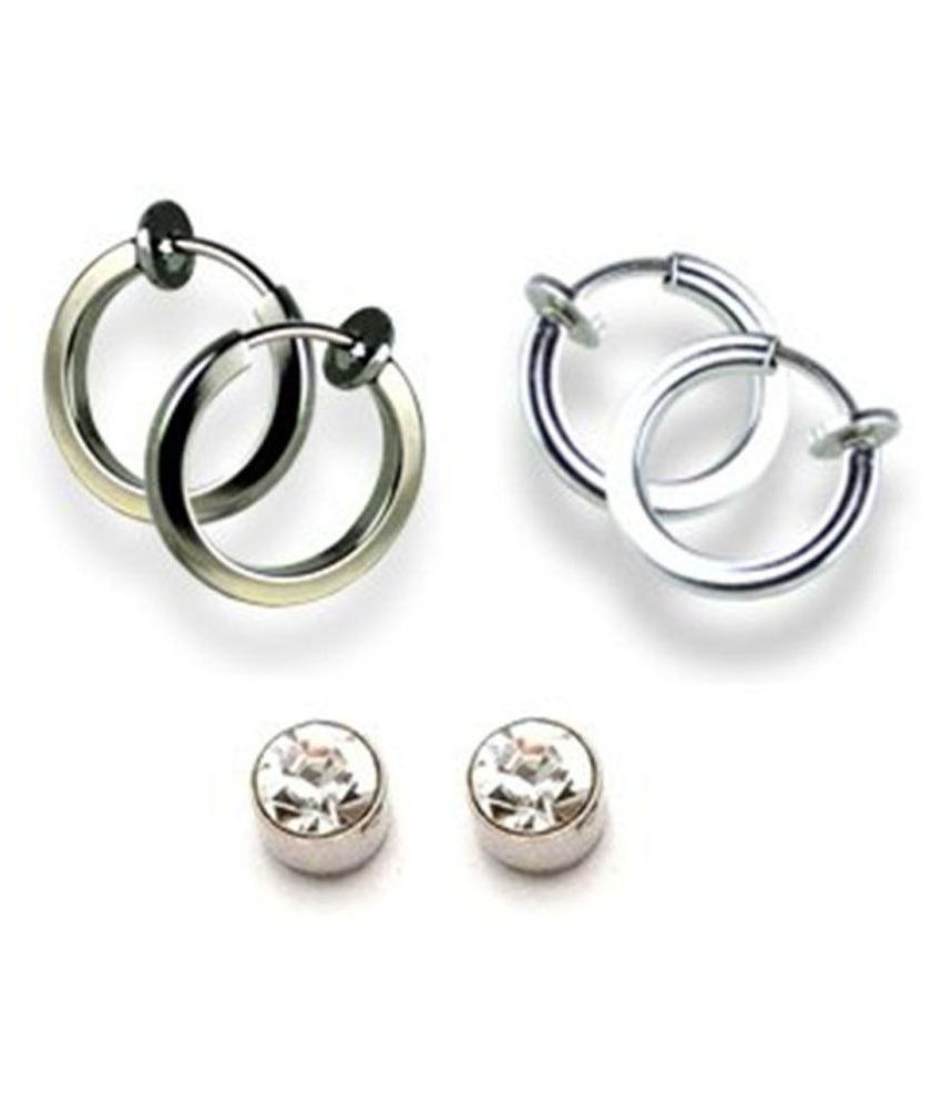 fb2ce8aab 3 Magnetic Earrings Combo For Non-Pierced Ears - Buy 3 Magnetic Earrings  Combo For Non-Pierced Ears Online at Best Prices in India on Snapdeal