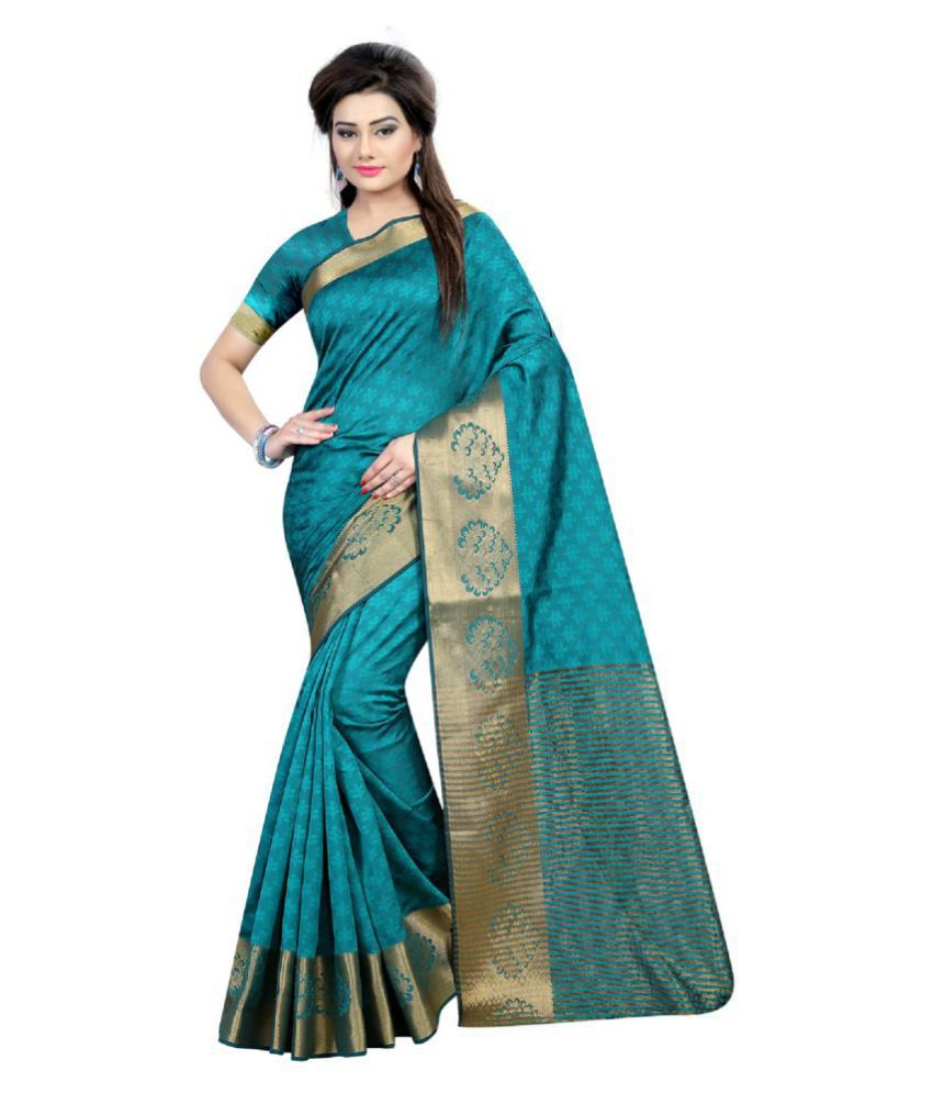 Indian Robe Multicoloured Silk Saree