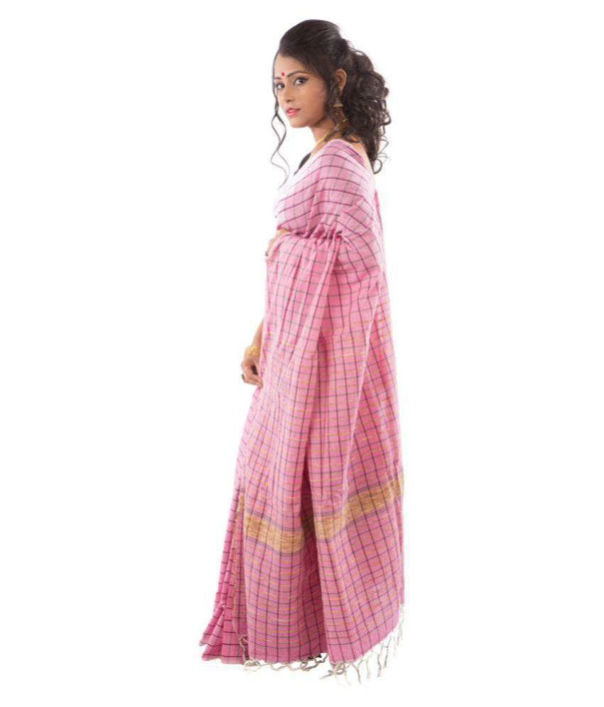Manjusha Pink Cotton Saree