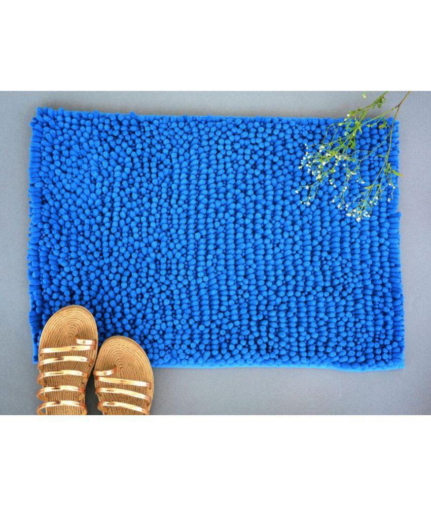 NestRoots Blue Single Anti-skid Floor Mat