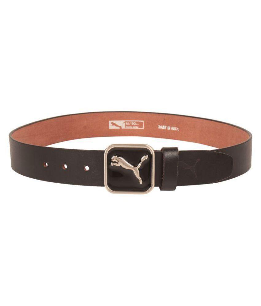 Puma Black Leather Casual Belts