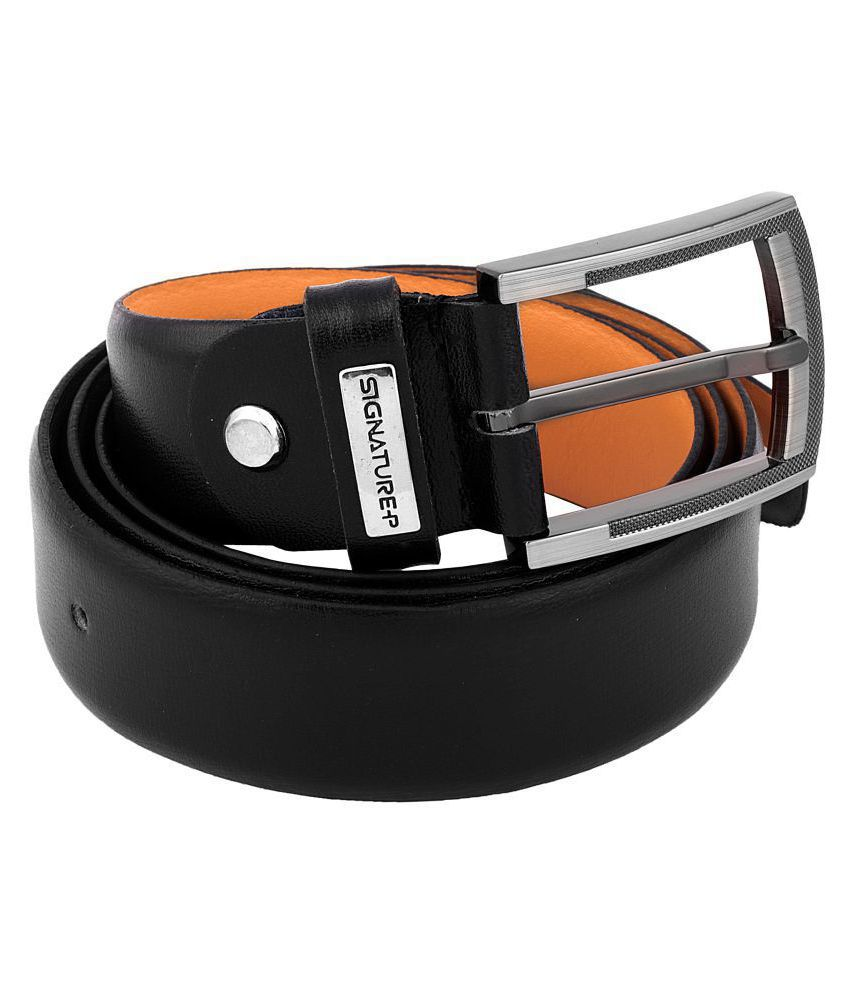 Signature Plus Black Leather Formal Belts