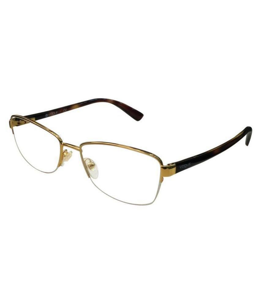 1643251a1c9 Vogue Golden Oval Spectacle Frame VO4037 280 - Buy Vogue Golden Oval  Spectacle Frame VO4037 280 Online at Low Price - Snapdeal