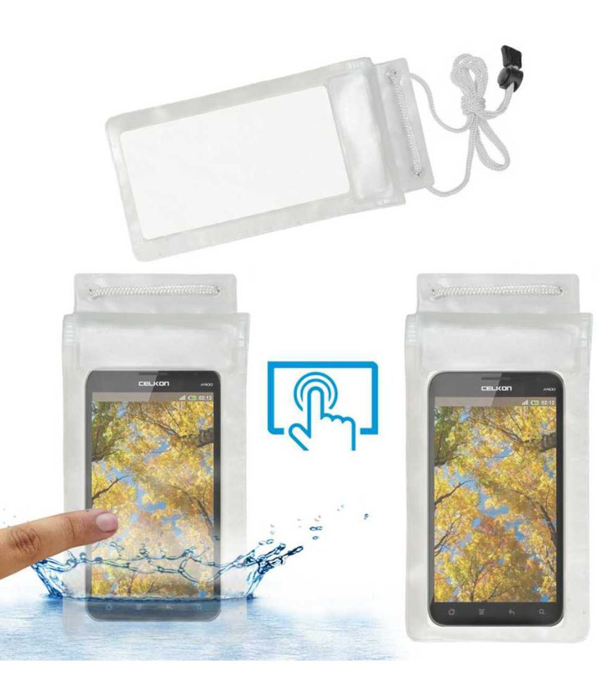 Celkon A900 Holster Cover by ACM - Transparent