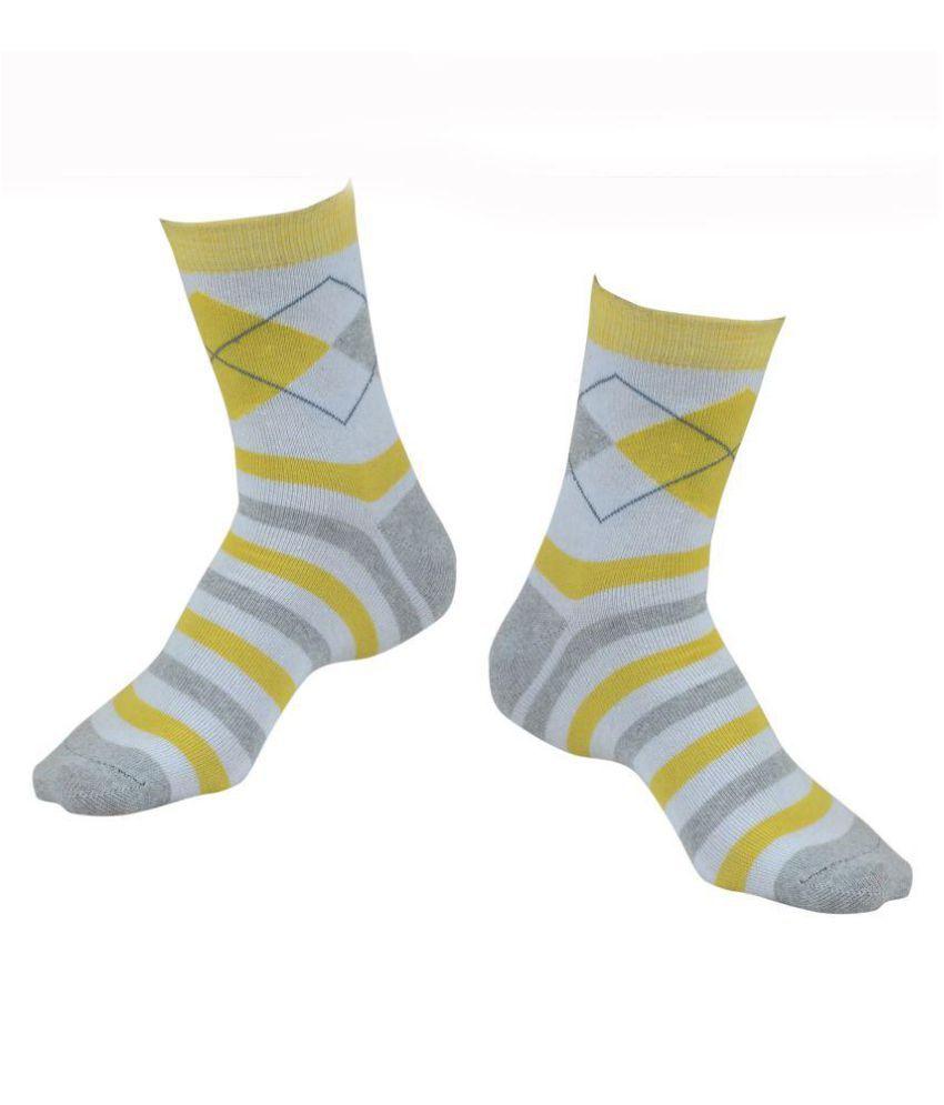 sagaa unisex cotton ankle socks-3 pair pack(yellowmix)
