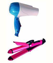 Bentag Combo Hair Dryer Blue & Hair Straightener-2009 Pink ( Multicolour )