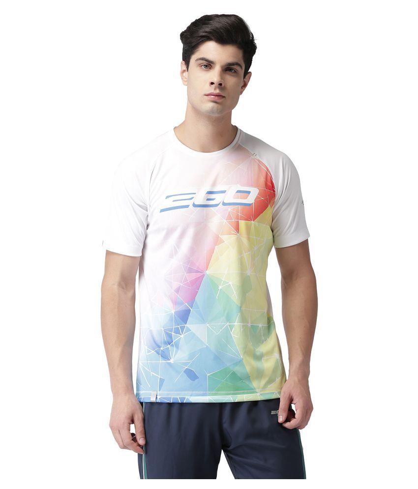 2GO White Round T-Shirt