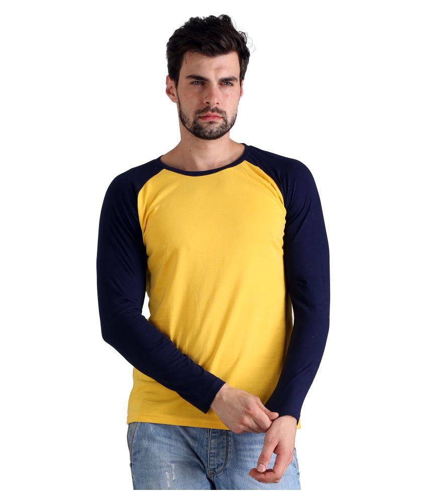 Atheno Yellow Round T-Shirt