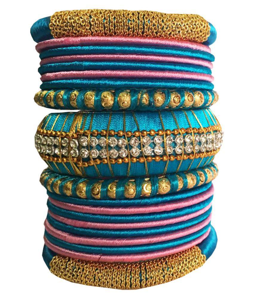 Handcrafted Silk Dori Bangles Set
