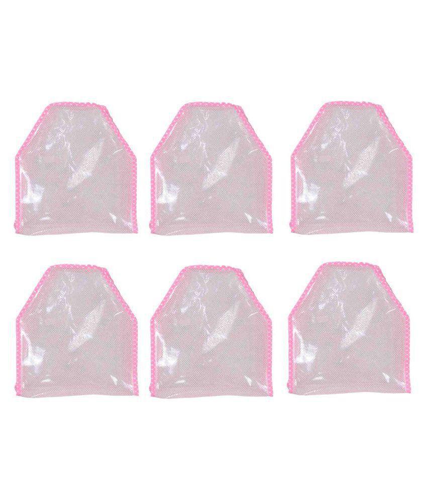 fancy wala Pink Saree Covers - 6 Pcs