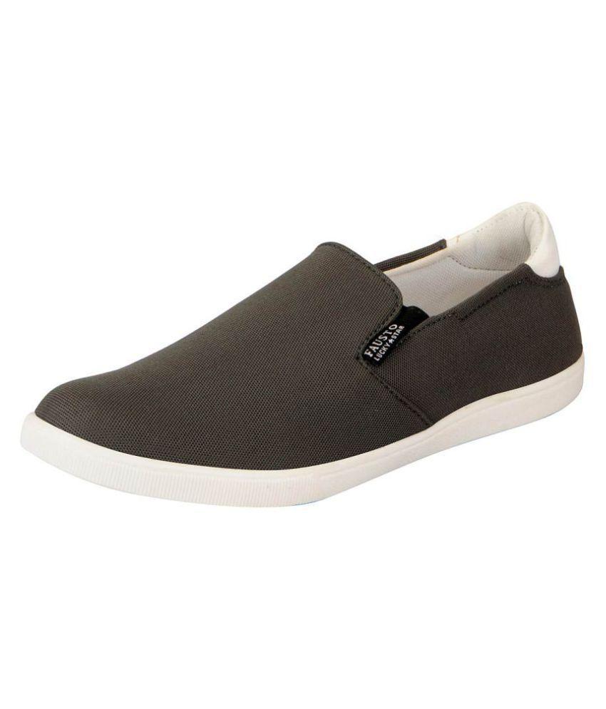 Fausto Espradrilles Gray Casual Shoes