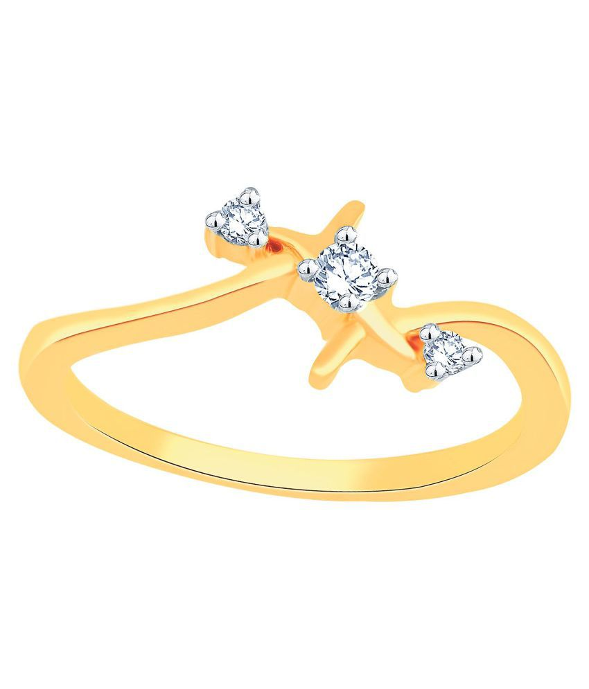 Glitterati By Asmi 18k Gold Ring