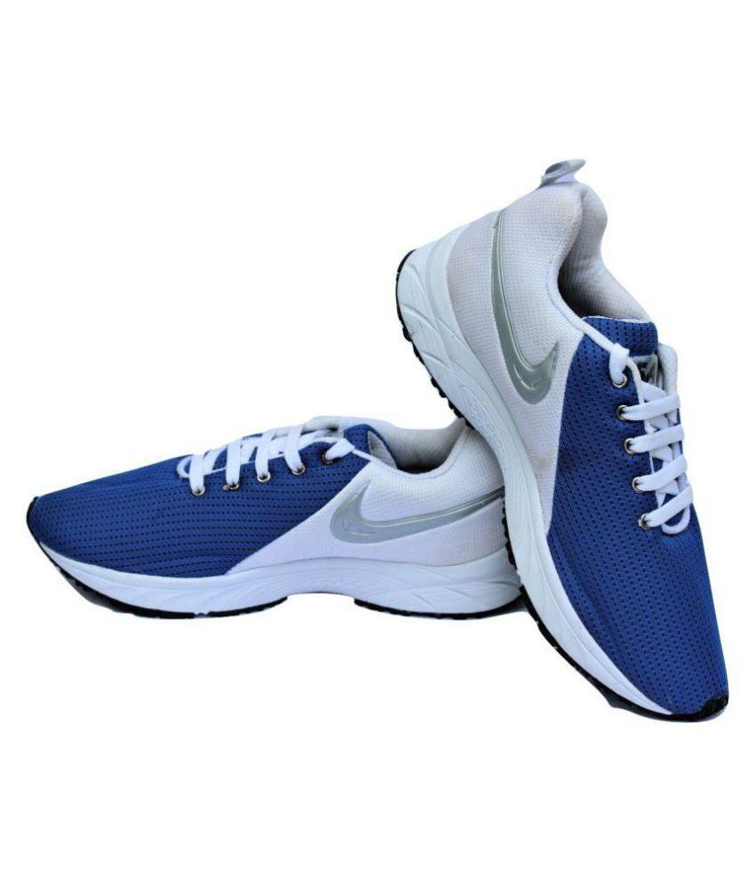 RW SAGA Blue & White Running Shoes, Walking Shoes, Cricket Shoes, Tennis With ...