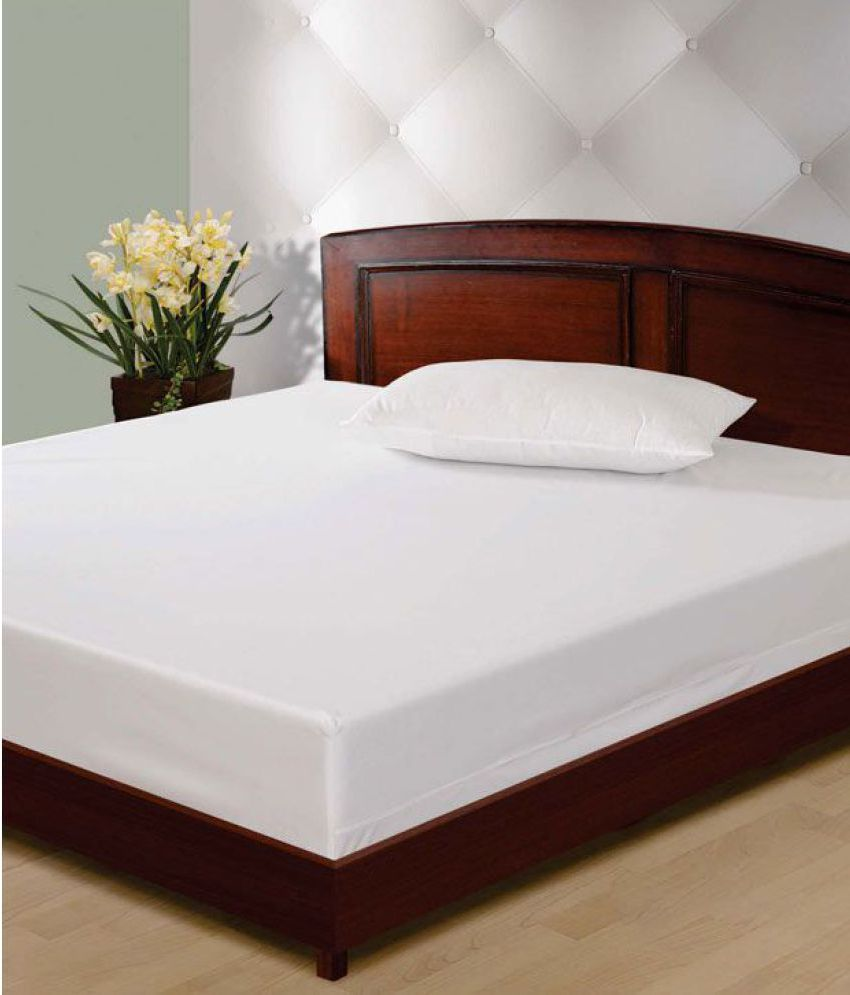 swayam swayam white knitted mattress protector buy swayam swayam