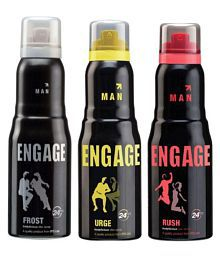 Engage Men Deodorants Urge + Rush + Frost 150ml Each