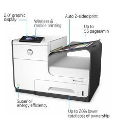 HP HP PageWide Pro 452dw Wireles with Duplex Printing Single Function Colored Inkjet Printer
