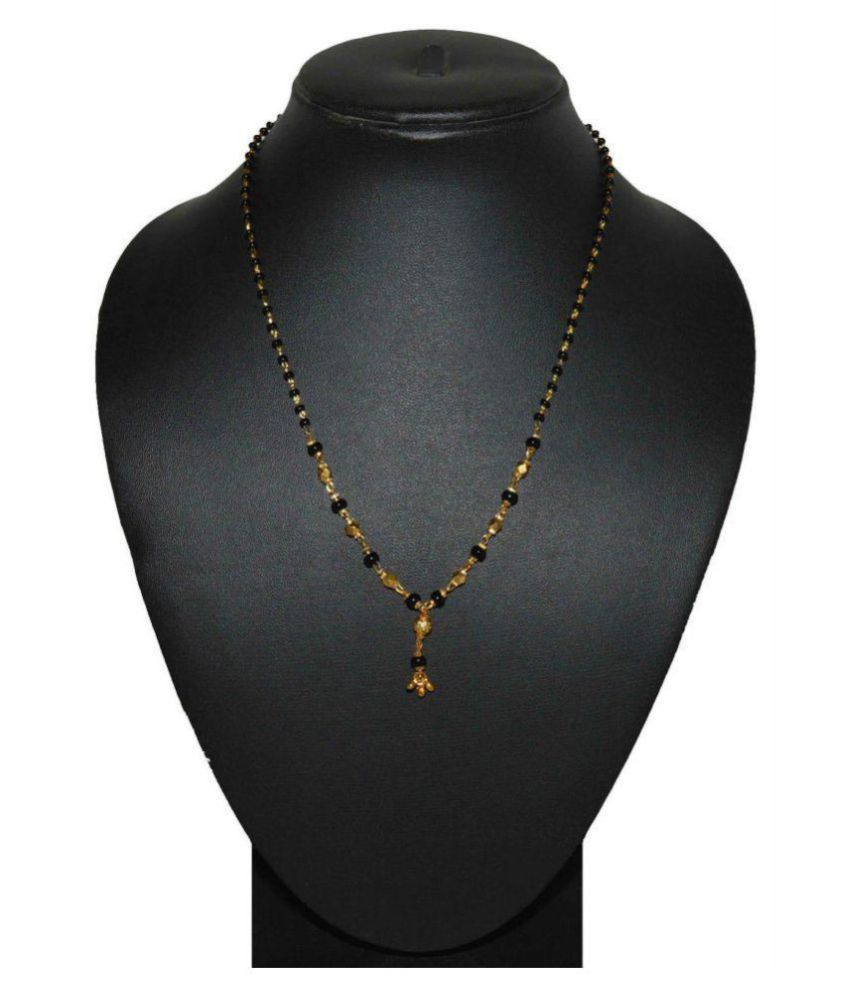 Fabzeel Alloy Studded Gold Coloured 18 Inch Mangalsutra