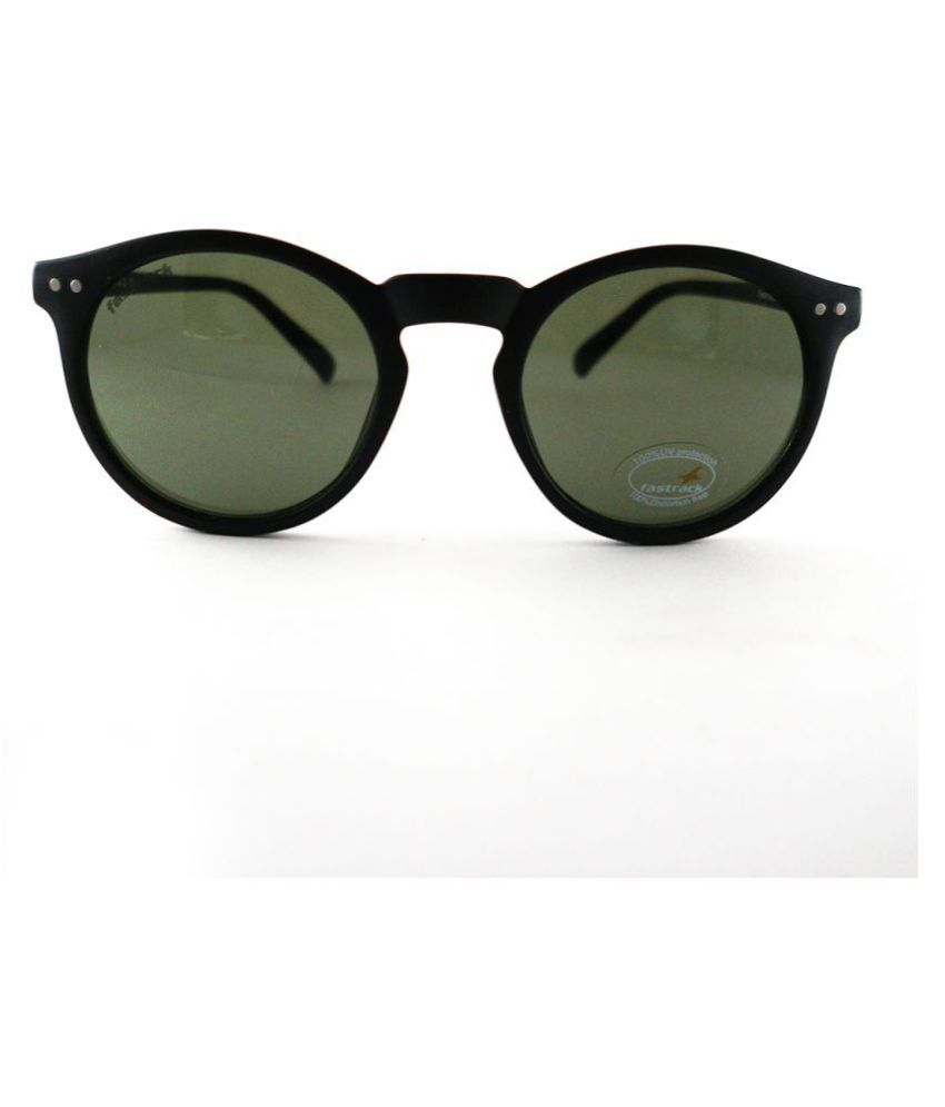 Fastrack Green Round Sunglasses ( P376GR2 )