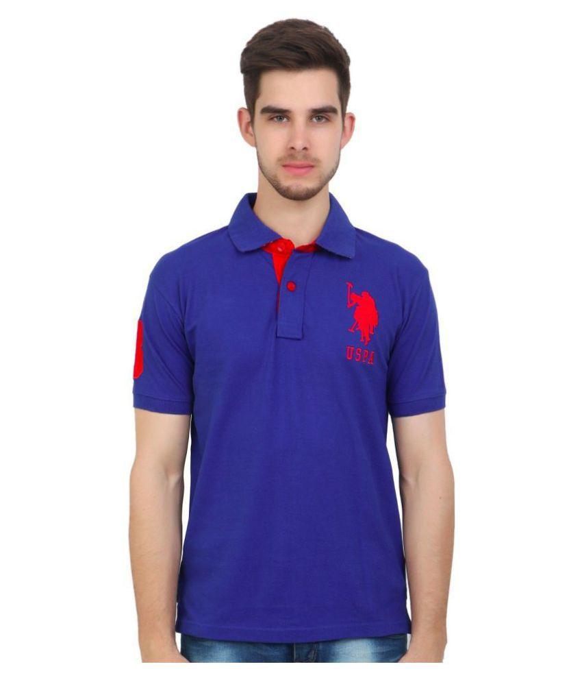 5755a04074 U.S. Polo Assn. Blue Regular Fit Polo T Shirt - Buy U.S. Polo Assn ...
