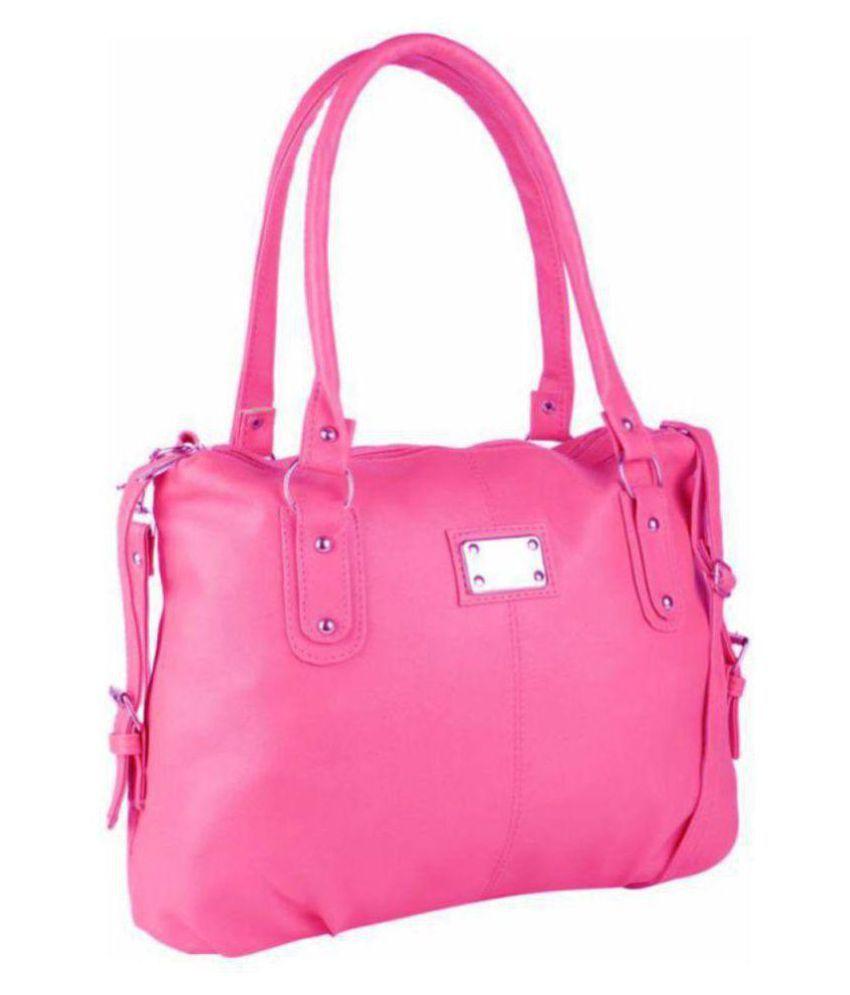 sr sales Pink P.U. Shoulder Bag