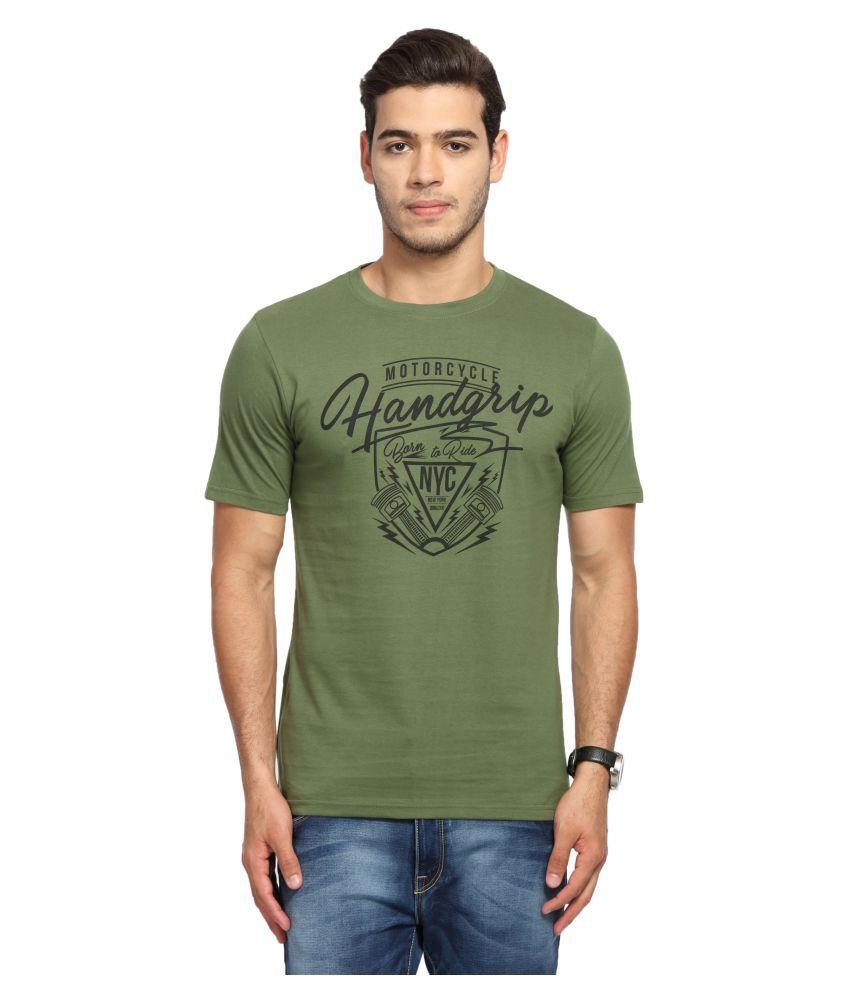 Handgrip Green Round T-Shirt