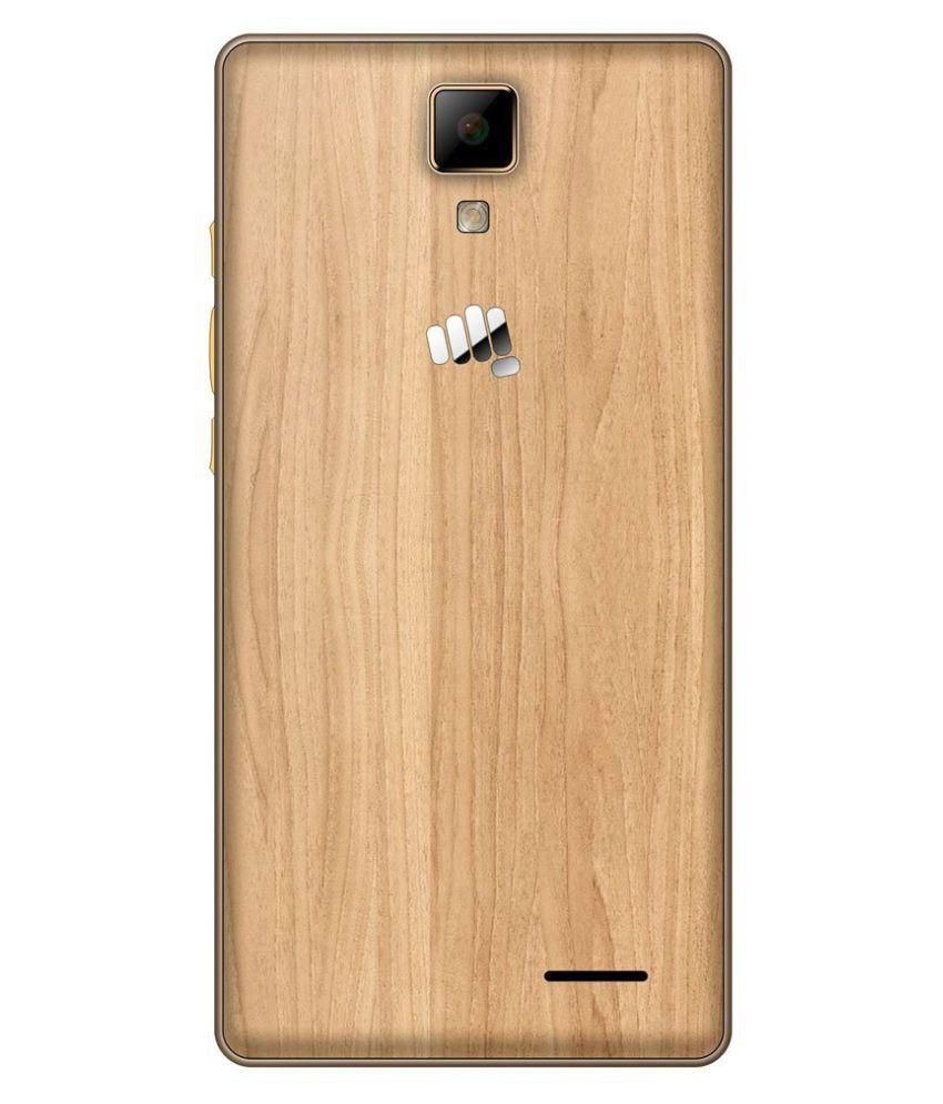 Micromax Canvas 5 Lite Q463 ( 16GB , 3 GB ) Maple Wood