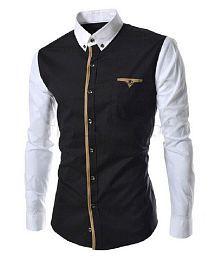 Ud Fabic Black Regular Fit Shirt