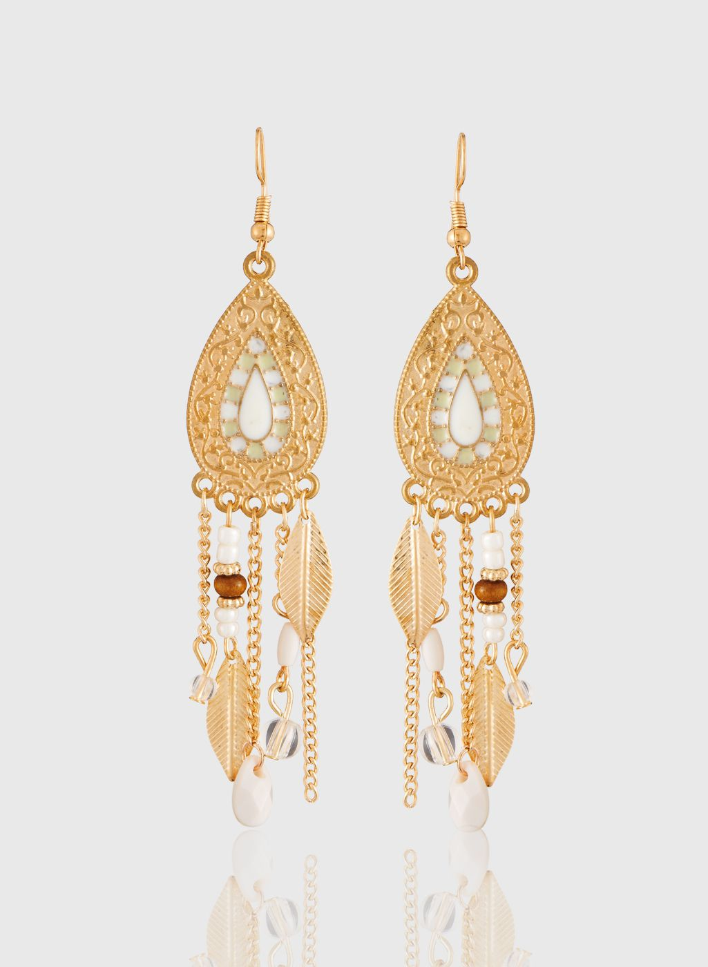 Jazz Fashion Gold Plated Chimes Designer Fancy Danglers Long Earring for Ladies Girls.