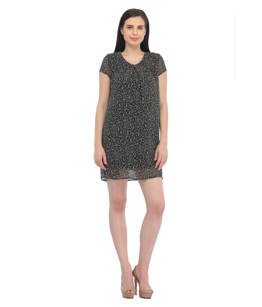 Entease Polyester Black Dresses