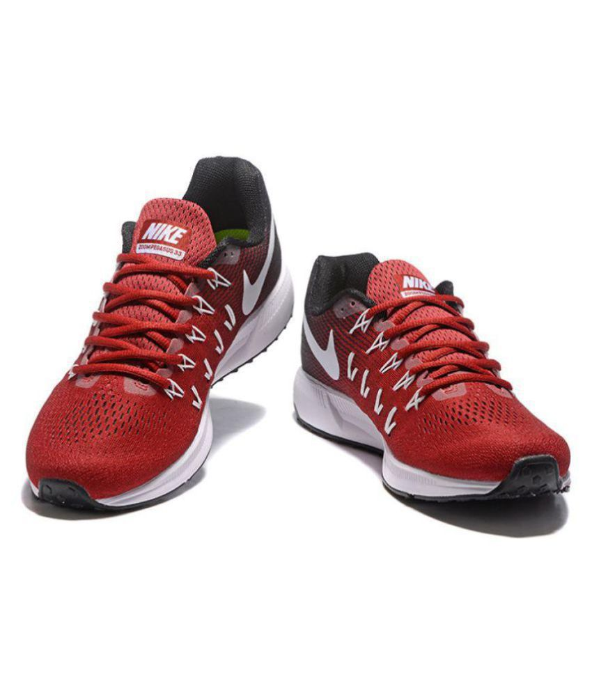 05f73b1c22893 Nike Zoom Pegasus 33 Red Running Shoes - Buy Nike Zoom Pegasus 33 Red  Running Shoes Online at Best Prices in India on Snapdeal