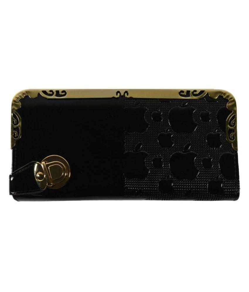 Glitters Online Black Wallet
