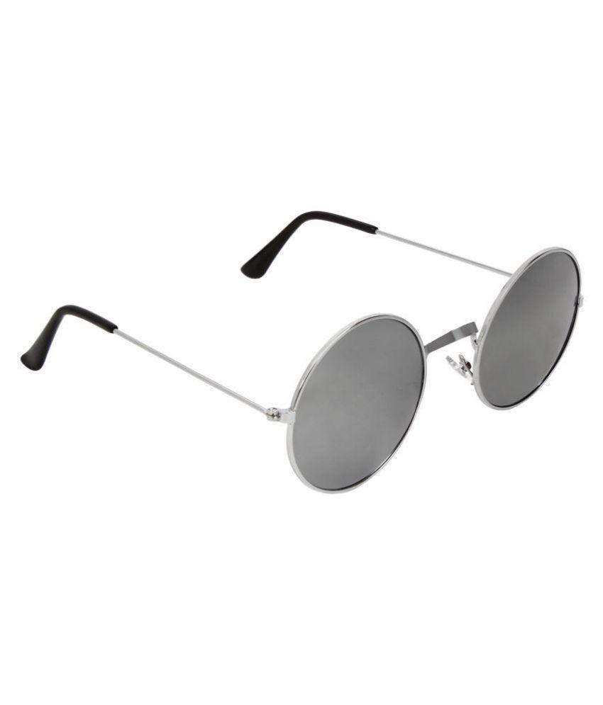 Abner Silver Round Sunglasses ( ASUN-105 )