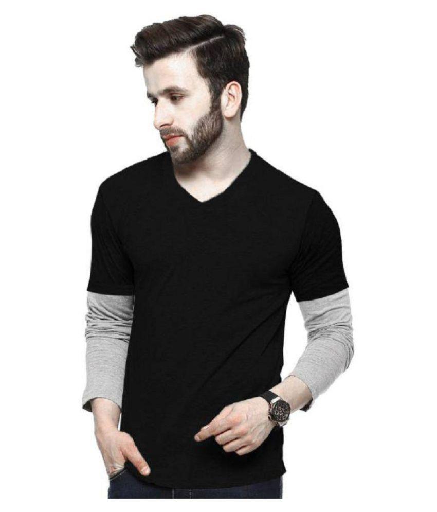 Lime Black V-Neck T-Shirt
