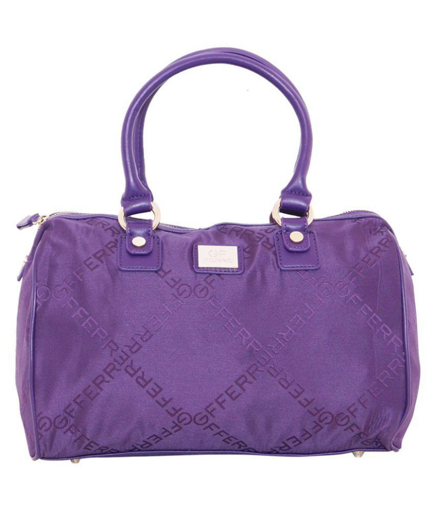 Daresay Purple Faux Leather Shoulder Bag
