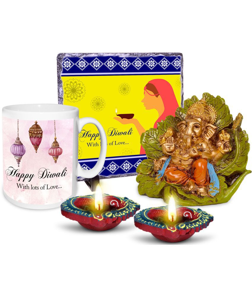 alwaysgift Ceramic Diwali Hampers Multicolour - Pack of 1